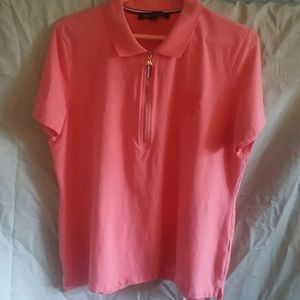Tommy Hilfiger coral polo shirt